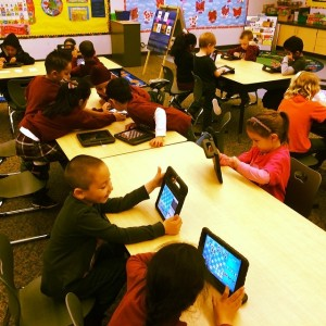 "Kindergarteners at River Islands Technology Academy  are turning to the iPad to improve their cognitive function or as they like to say, ""Play chess."""