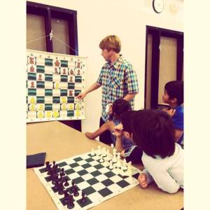 Tans Hylkema taught our youngest campers how to play chess and notate their moves.