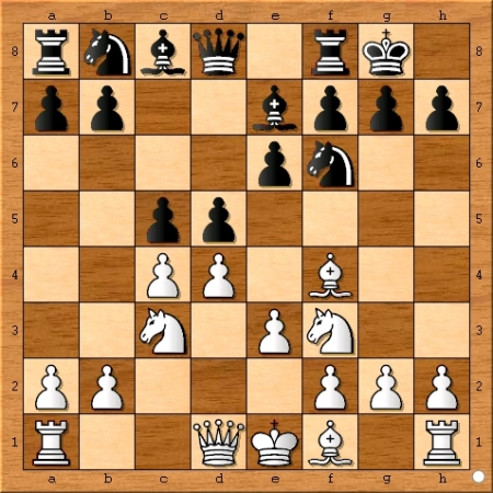 The position after Magnus Carlsen plays 6... c5.