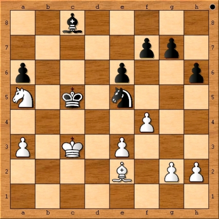 The position after Viswanathan Anand plays 34. f4.