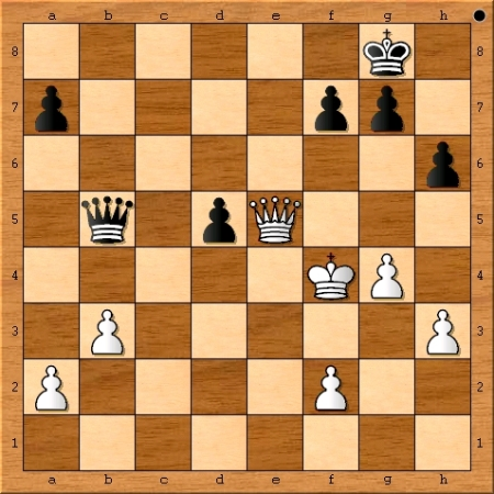 The position after Magnus Carlsen plays 38. Kxf4.