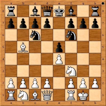 Position after Magnus Carlsen castles on move 4.