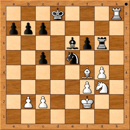 Position after Magnus Carlsen plays 29. Rh8+.