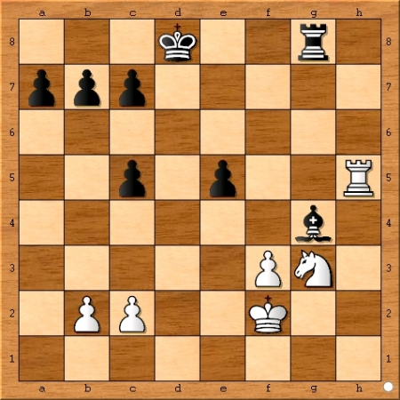 Position after Viswanathan Anand plays 31... Bxg4.