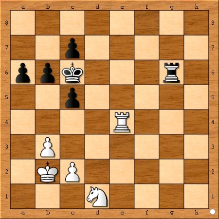 Position after Viswanathan Anand plays 42... Rg6.