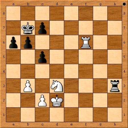 Position after Magnus Carlsen plays 55. Kd2.