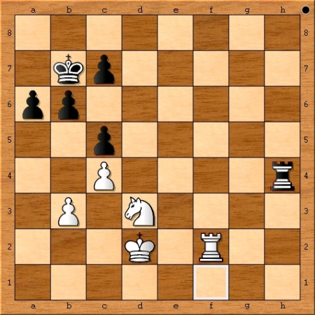 Position after Magnus Carlsen plays 57. c4.
