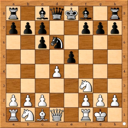 Position after Viswanathan Anand plays 6... dxc6.