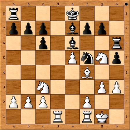 Position after Magnus Carlsen plays 14. g3.