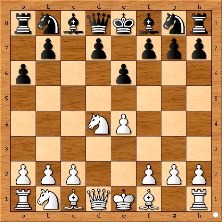 The position after Viswanathan Anand plays 4... a6.