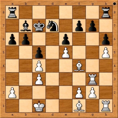 The position after Magnus Carlsen plays 17. Rg3.