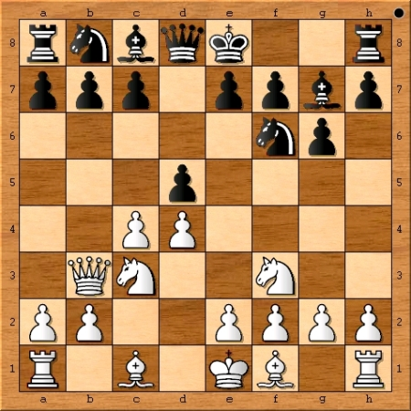 Position after Viswanathan Anand plays 5. Qb3.