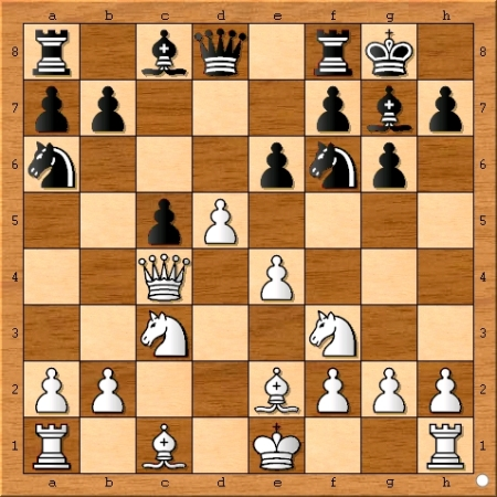 Position after Magnus Carlsen plays 9... e6.
