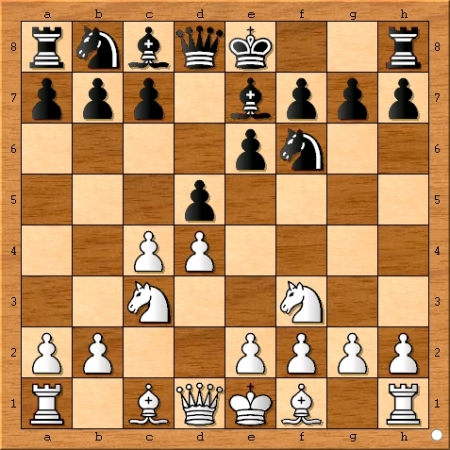 Position after Magnus Carlsen played 4... Be7.