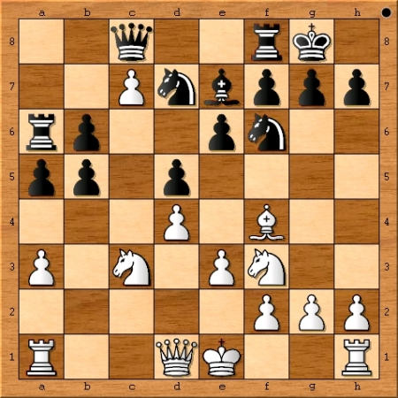 Position after Viswanathan  Anand plays 14. c7.