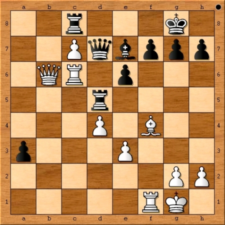Position after Viswanathan Anand plays 26. Rc6.